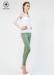 【K960】塑身弹性网纱拼接排汗透气舒适速干 海绿