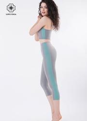 显高显瘦重塑翘臀交叉网纱裤—灰色款(K862)