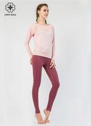 【Y780】衛衣點型網紗拼接透氣排汗 粉色