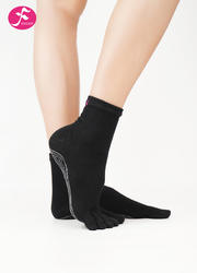 一梵秋冬保暖瑜伽襪 黑色