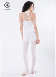 小圆领极致修身美背上衣—白色款(Y521)