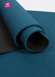 雙色瑜伽墊孔雀藍 183×61×0.8cm