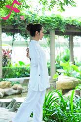 一梵禅修服1号款  简洁经典,材质天然舒适 麻棉 棉绸两种面料可选