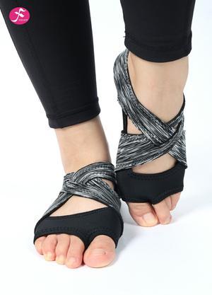 一梵硅膠防滑瑜伽鞋 黑灰色