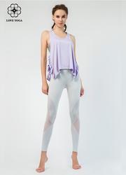 特價罩衫【Y773】褶皺開叉邊工字肩帶支撐罩衫 紫色
