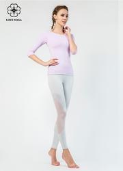 活动A     【K973】网纱拼接透气排汗弹性修腿