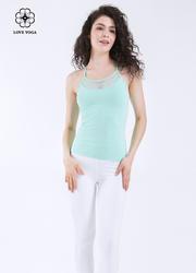高雅网孔纤腰美体细肩带上衣—薄荷绿款(Y573)
