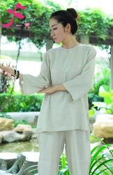 【特批】一梵禅修服4号款   棉绸白色