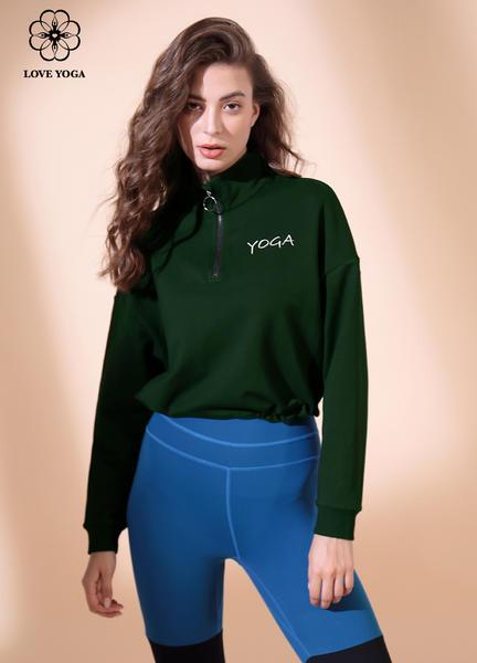 【W467】瑜伽服女2019秋冬新款宽松上衣瑜伽运动卫衣