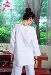 【特批】一梵禪修服3號款 棉綢白色
