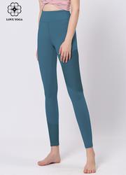 【K987】夏季新品蜂窩網紗瑜伽褲不對稱拼接長褲