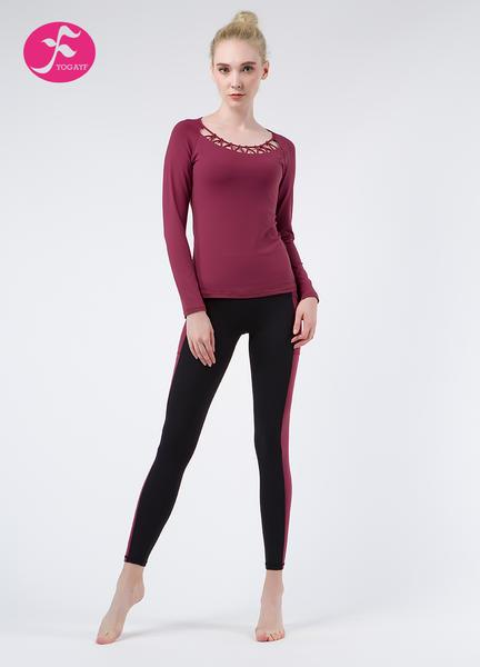 【秋冬新款】J1054 暗紅+黑色 編織感套裝
