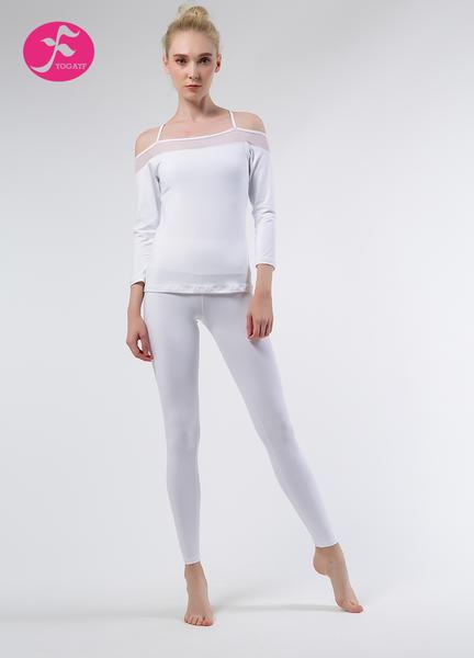 【秋冬新款】J1057 白色 吊帶露肩套裝