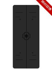 正位线天然橡胶PU垫 0.45cm   黑色