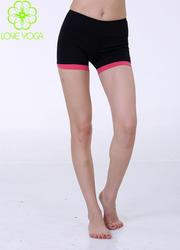 LOVE-YOGA瑜伽短裤K711黑+西瓜红