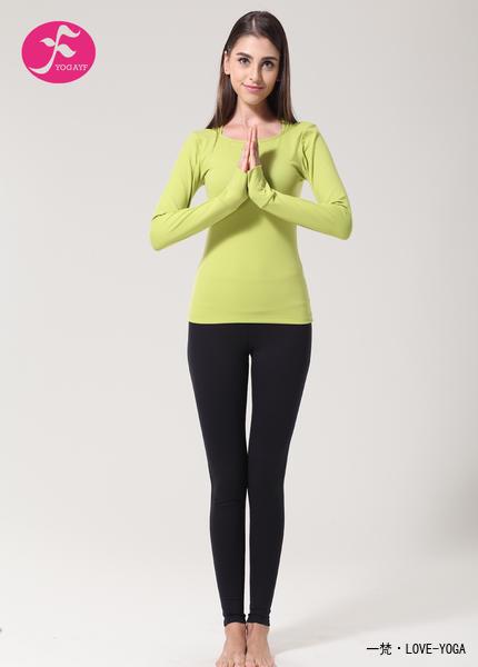 一梵瑜伽   清爽棉系列   秋、冬款J814  瑜伽服