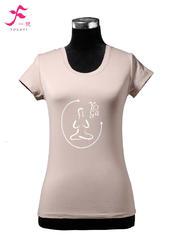 12號   咖啡色      一梵短袖印花純棉T恤