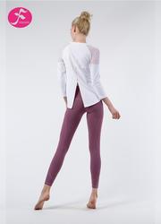 J1086 白色+紫色 燕尾罩衫套装
