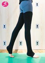 一梵竞技宝官网测速袜专业加厚训练健身舞蹈过膝踩脚高长筒运动护腿袜子