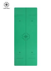 天然橡胶PU瑜伽垫(升级版)0.45cm 引导线 绿色