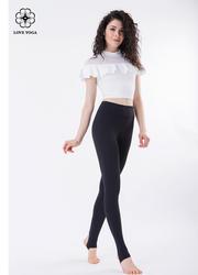 保护子宫必备长腿利器高腰裤—黑色款(K865)