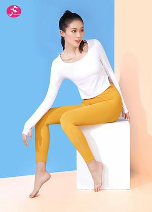 【J1213】拱型衣擺心機小露側邊腰線 白+姜黃