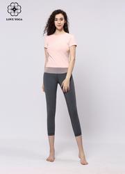【Y897】夏季时尚优雅网纱拼接短袖上衣