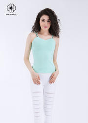 简约女神范抹胸双线美背上衣—薄荷绿款(Y579)