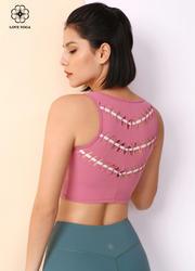 【Y968】后背穿插褶皺編織新潮短款小背心