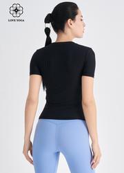 【Y1042】微拼接瑜伽上衣 黑色