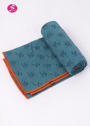 OM系列硅膠防滑顆粒鋪巾 孔雀藍 183*63CM
