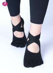 一梵專業防滑綁帶瑜伽襪子  黑色
