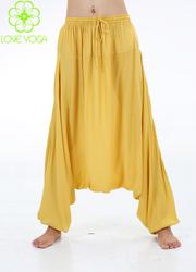 LOVE-YOGA高端禅修服 C501黄色裤子