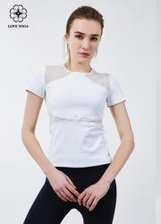 【Y730】塑形网纱拼接透气舒适 白色