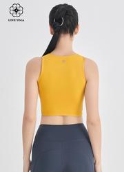 【Y1025】两侧镂空性感设计 琥珀黄