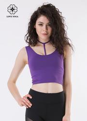 (Y508)S/M/L现货  T形气质性感露锁骨背心—紫色款