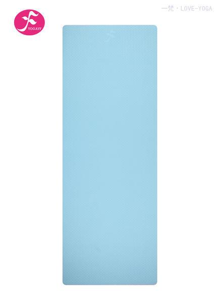 天然环保TPE瑜伽垫 183*61*0.6CM(天蓝)