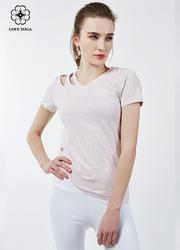 【Y769】新款不对称露肩简洁大气T恤 彩色