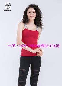活力亲肤抹胸字母吊带上衣—大红色款(Y591)