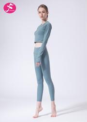 【J1134】一梵秋冬新款性感后背露腰健身運動瑜伽套裝