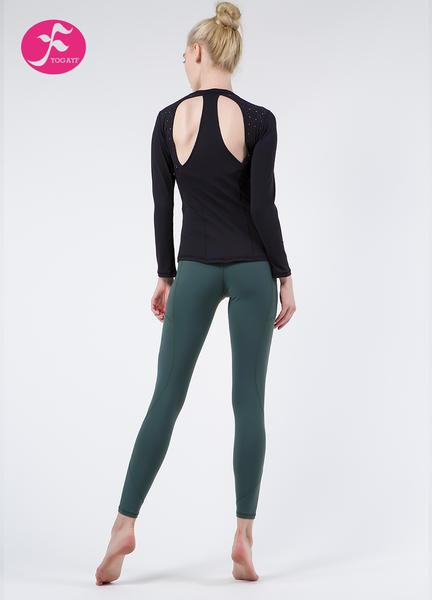 【秋冬新款】J1064 黑色+綠色 鐳射蝴蝶骨套裝