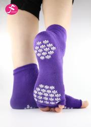 一梵新品秋冬保暖瑜伽袜 深紫色