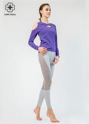 【Y845】时尚不对称漏肩显现性感锁骨收束袖