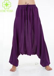 LOVE-YOGA高端禅修服 C501紫色裤子