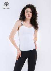 活力親膚抹胸字母吊帶上衣—白色款(Y590)