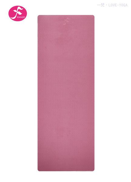 天然环保TPE瑜伽垫 183*61*0.6CM(玫红色)