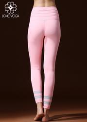 LOVE-YOGA瑜伽秋冬长裤 K841 瑜伽服修身束腿锦纶 粉色