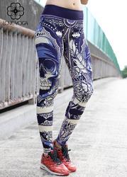瑜伽印花裤   蓝色骷髅 H5216S现货