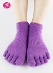 一梵新品秋冬保暖瑜伽袜 浅紫色