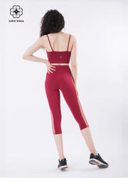 性感交叉网纱修身吊带Bra—大红色款(Y541)